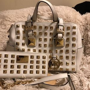 Michael Kors Studded Grayson with wallet